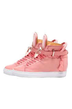 Buscemi 100 mm Alta Womens Sneakers Coral White #Buscemi #surrenderstore #surrenderous #salonbysurrender