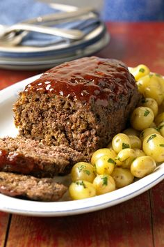 Onion soup mix seasons the ground beef in this simple meat loaf recipe. Serve it for dinner with creamy mashed potatoes.