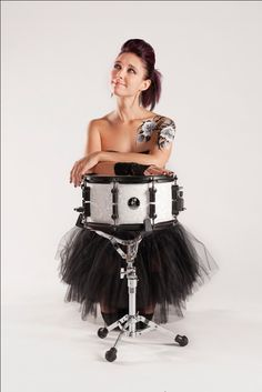 Emmanuelle Caplette........... amazing drummer and sporting some very cool ink