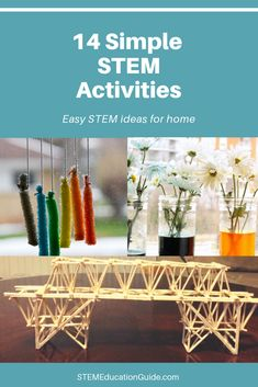 Planning your next STEM activity doesn't need to be a headache! These simple STEM activities & science experiments can be done hour or less with items around your house. Math Activities For Kids, Steam Activities, Science Resources, Teaching Resources, Teaching Ideas, Secondary School Science, High School Science, Science Classroom, Teaching Science