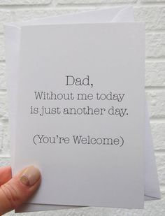 Funny Father's Day Cards That Are Better Than Dad Jokes clever fathers day gifts, daddy gifts, fathers day crafts diy Father's Day Cards That Are Better Than Dad Jokes Funny Fathers Day Card, Fathers Day Crafts, Fathers Day Ideas, Funny Fathers Day Gifts, Joke Gifts, Funny Gifts, Daddy Gifts, Gifts For Dad, Father's Day Gifts