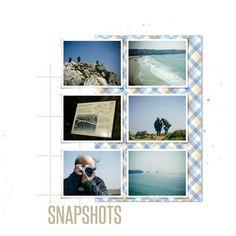 6 photos + shadows + paper