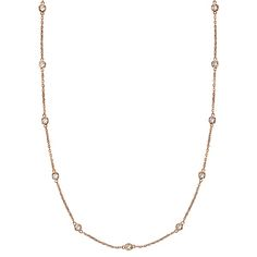 Diamonds by The Yard Bezel-Set Necklace in 14k Rose Gold (2.00 ctw) - Allurez.com