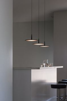 Vibia Skan 0275 Pendant Lamp - SKAN is a hanging lamp with a minimalist design. Interior Lighting, Home Lighting, Kitchen Lighting, Modern Lighting, Lighting Design, Bar Lighting, Deco Luminaire, Luminaire Design, Light Fittings