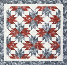 Maple Leaf Flurries Quilt Kit Designed by Judy Niemeyer Paper Piecing Patterns, Quilt Patterns, American Patchwork And Quilting, Book Quilt, Quilt Top, Quilt Sizes, Quilting Projects, Quilting Ideas, Quilt Blocks