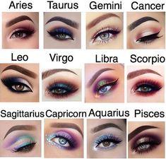 zodiac eye makeup looks Zodiac Signs Colors, Zodiac Signs Chart, Zodiac Sign Traits, Zodiac Signs Astrology, Zodiac Signs Horoscope, Zodiac Star Signs, Aries Zodiac, My Zodiac Sign, Gemini Sign