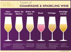 Types of Champagne & Sparkling Wine Types Of Champagne, Champagne Taste, Champagne Bottles, Champagne Brunch, Best Champagne, Wine Infographic, Infographics, Wine Chart, Pale Ale Beers
