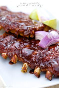 baked apple BBQ pork ribs recipe 2