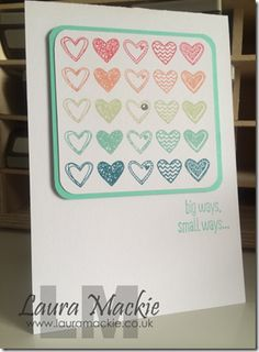 Language of love Stampin up stamp set, card made by Laura mackie