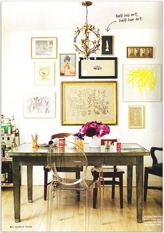dining room with a twist