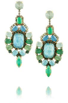 Erickson Beamon Aerin gold-plated Swarovski crystal drop earrings | THE OUTNET