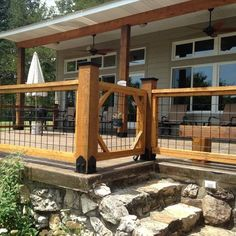 Wild Hog Railing Guide Comply with Local Building Codes Deck Railing Design, Patio Railing, Patio Deck Designs, Fence Design, Railing Ideas, Cabin Decks, Home Porch, House Deck, Diy Deck
