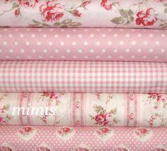 Petal Fabric by Tanya Whelan / Pinks / 5 Half Yard by mimis, $23.75