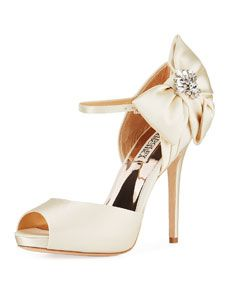 6723698e2a7 Shop Samra Crystal Bow Sandals from Badgley Mischka at Neiman Marcus Last  Call