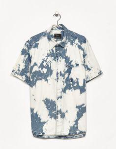 Bleached denim shirt - Bershka #bleached #denim #shirt #bershka