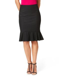 High Waist Flounced Pencil Skirt | THE LIMITED.  Perfect for the office, a party or really anything!