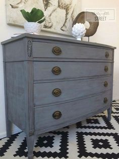 refinishing furniture Thirty Eighth Streets tutorial, tips and tricks to get an easy DIY Restoration Hardware look. A step by step guide that walks you through how to dry brush furniture and create your own Restoration Hardware knock off! Gray Painted Furniture, Colorful Furniture, Paint Furniture, Repurposed Furniture, Furniture Makeover, Cool Furniture, Modern Furniture, Furniture Design, Furniture Ideas