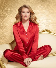 bf6aee08312aa  Soma Embraceable Luxe Silk Pajama Top  amp  Bottom in Ruby  MySomaWishList   luxury