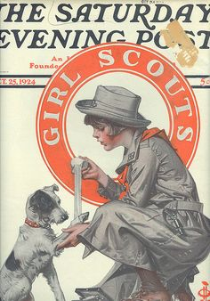 Saturday Evening Post, Oct 25, 1924 Girl Scout Cover