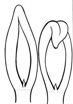 Moldes de Orelhas de Coelho | Pra Gente Miúda