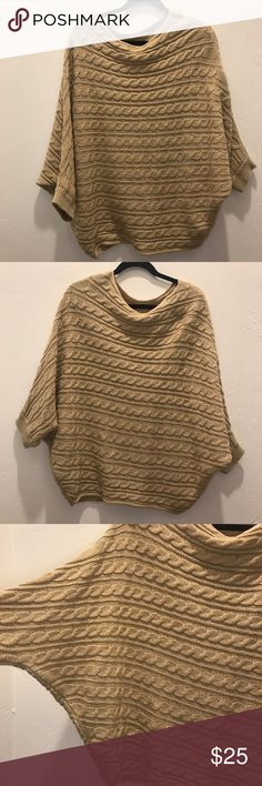"""Zoa New York cable knit Dolman sweater In excellent condition this beautiful cable knit sweater is perfect alone or over a light weight top.    Measurements - taken while flat - it's made to fit extremely relaxed.  Shoulders: 30""""  Chest: 40""""  Length: 31"""" Zoa New York Sweaters Shrugs & Ponchos"""