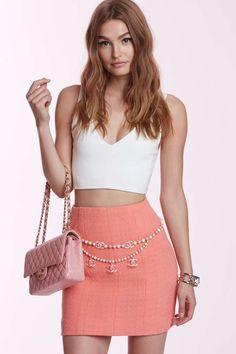 Vintage Chanel Marlaine Tweed Skirt | Shop Vintage at Nasty Gal!