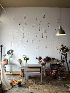 Floral Studio Tour with Our Dream Accent Wall and Shelves - Onechitecture Home Design, Sofa Couch, Deco Boheme, Blog Deco, Interiores Design, Wabi Sabi, Interior And Exterior, Living Spaces, Interior Decorating