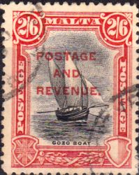 Malta 1928 Postage and Revenue Overprint SG 189 Fine Used Scott 163 Other Malta Stamps HERE