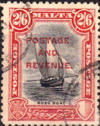 Malta 1928 Postage and Revenue Overprint SG 189 Fine Used Scott 163 Other Malta Stamps HERE