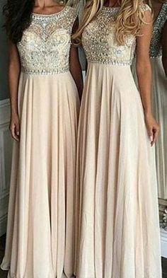 Luxurious A-Line Scoop Sleeveless Long Prom Dress with Beading.Sweetheart prom dress,Beading dress,