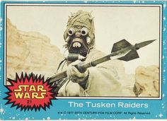 1977 Topps Star Wars Card Blue Series #21 The Tuskan Raiders