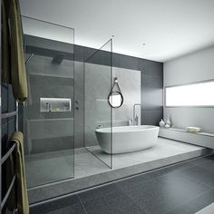 Minimal Interior Design Inspiration Here we showcase a a collection of perfectly minimal interior design examples for you to use as inspiration.Check out the previous post in the series: Minimal Interior Design Inspiration miss out on UltraLin Modern Bathroom Design, Bathroom Layout, Bathroom Interior Design, Modern House Design, Modern Bathtub, Bathroom Ideas, Modern Bathrooms, Budget Bathroom, Bathroom Designs