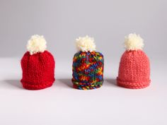 tiny little knitted hats #bigknit