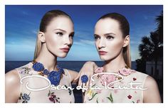 OSCAR DE LA RENTA SPRING 2015 AD CAMPAIGN: Shot in Miami by Steve Hiett, styled by Natasha Royt, the campaign stars Daria Strokous and Sasha Luss. Make-up by Gucci Westman and hair by James Pecis. The...