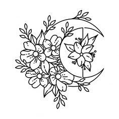 Band Tattoos, Cute Tattoos, Small Tattoos, Tattoo Design Drawings, Art Drawings Sketches, Tattoo Sketches, Floral Tattoo Design, Flower Design Tattoos, Flower Outline Tattoo