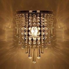 #NewChic - #NewChic Modern Crystal Chandelier Wall Light Lighting Fixture 220V Pendant Lamp Home Deco - AdoreWe.com