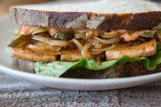Juicy Tofu Sandwich with Smoked Mayo