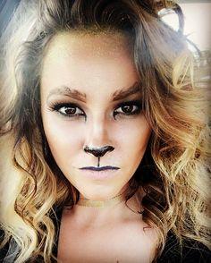 Halloween makeup!! 🦁