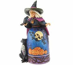 Jim shore  | Jim Shore Heartwood Creek Halloween Witch with Black Cat — QVC.com