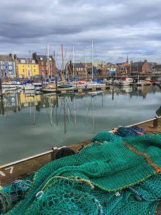Arbroath Harbour on a cloudy morning, Scotland. Scotland Travel, Highlands Scotland, Ireland Uk, Secret Places, British Isles, Places To Travel, Countryside, Travel Inspiration, United Kingdom