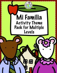 Teach Family Theme in Spanish with our Activity Pack, packed with loads of activities including mini books, activity pages, and games