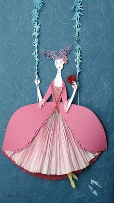 Marie Antoinette by paper artist, megan brain via du buh du.