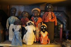 19th Century black doorstop dolls