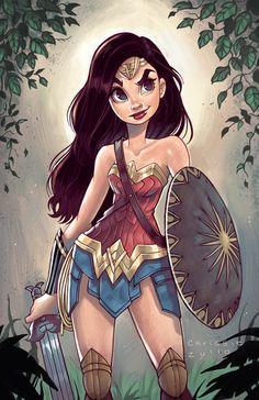 """""""Wonder Woman !"""" by Chrissie Zullo"""