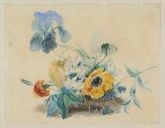 Untitled (Poppy, Tulip, Iris in Bouquet) JOHN HANCOCK (ENGLISH, b. 1757–UNKNOWN) C. 1825