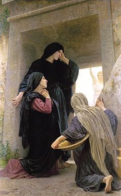 William-Adolphe Bouguereau - The Three Marys at the Tomb Art Print. Explore our collection of William-Adolphe Bouguereau fine art prints, giclees, posters and hand crafted canvas products William Adolphe Bouguereau, Catholic Art, Religious Art, Catholic Saints, Religious Paintings, Empty Tomb, Kunst Online, Biblical Art, Mary Magdalene