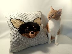 Chihuahua Cushion is a classy textured pillow inserted with the face of your choice of Chilhuahua. You choose the colors to get the look of a…