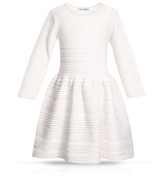 Baby Dior White tricot knit dress.