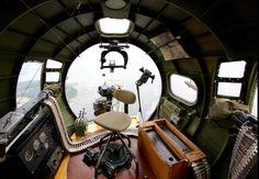 B-17 bombardier station.