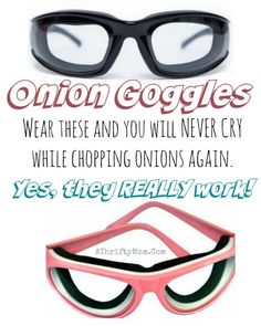 I had no idea these existed! So crazy yet brilliant! How to NOT cry when cutting onions, onion goggles and  yes they really work